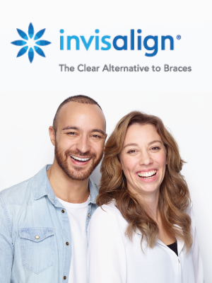 man and woman smiling