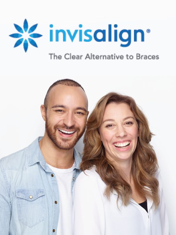 invisalign patients smiling